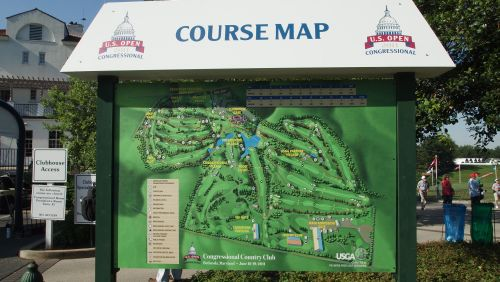 US Open Tuesday Practice Day Snaps Golf By TourMiss - Us open course map