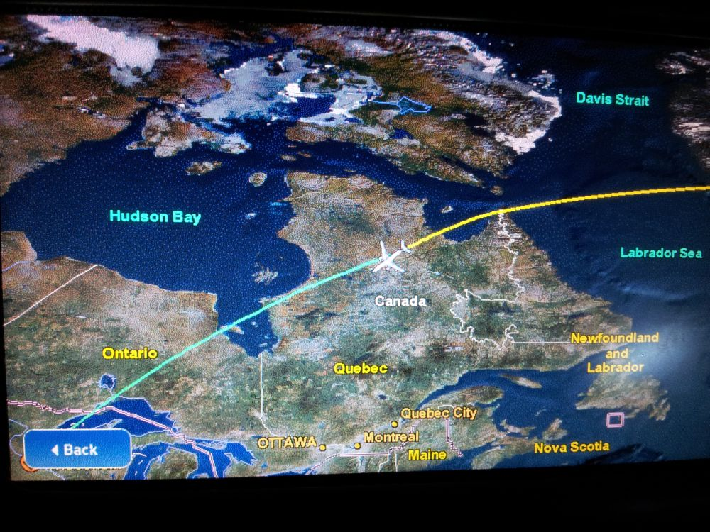 Delta Flight map of Canada | Golf, by TourMiss