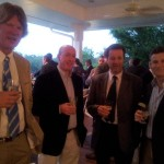 European Tour's Jamie Byrkmyre (left), Irish Time's Philip Reid, London Time's Peter Dixon and RTE's Greg Allen