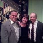 Karl MacGinty, Wilma Erskine (Secretary, Royal Portrush) and Bernie