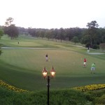 Looking out over Augusta Country Club
