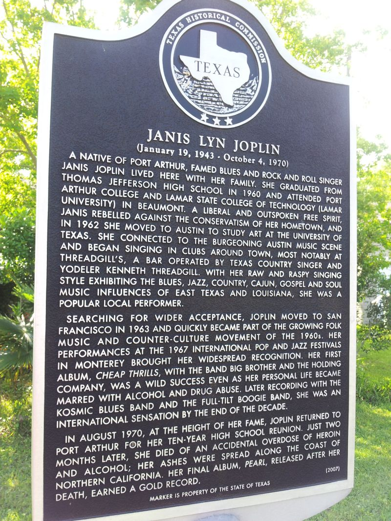 2012 Family Home Decorating Ideas: Memorial Sign In Front Of Janis Joplin Family Home In Port