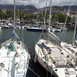 'Alf' and 'Adem' side-by-side in Funchal marina
