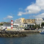 Funchal harbour shoreline