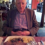 Jock MacVicar all set to tuck into his Spanish supper