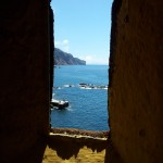 Looking along the Madeira Island coast from Fort Saintago