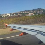 Taking off from Madeira Island
