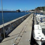 The wall at Funchal marina adorned with yachting 'murals'.