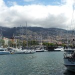 The yacht 'Buteo' in Funchal harbour