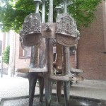 An interesting fountain in Dusseldord