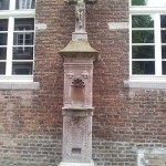 Catholic water fountain in the Dusseldorf Allstradt