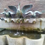 Duck fountain in Dusseldorf