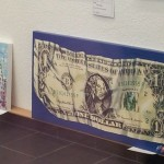 Dusseldorf art gallery - the mighty U.S. dollar bill