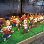 Euro 2012 crosssants lined up in Dusseldorf baker's shop