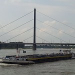 The Piz Daniel Jr heading upstream on the Rhine River.