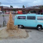 VW Combi on the 'Beach' in Cologne
