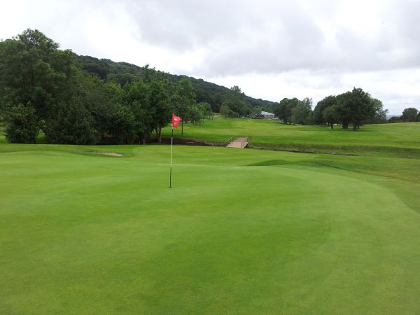 Holywood Golf Club 17th Green Looking Back Down The