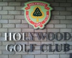 Holywood entrance to door sign (red)