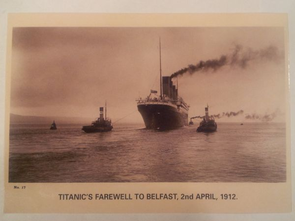 RMS Titantic leaves Belfast.  What would the members of Holywood be thinking on this day in April, 1912?