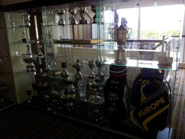 rory mcilroy u2019s items dominate holywood golf club trophy