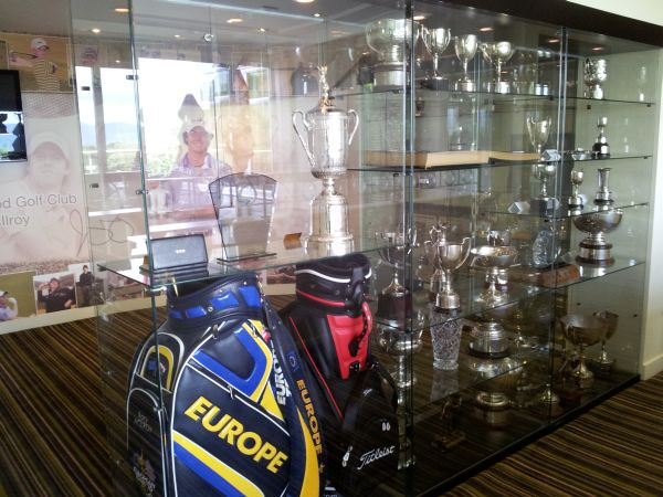 The Trophy Cabinet At Holywood Golf Club Dominated By Rory