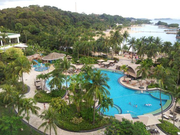Sunset Over Singapore The Shangri La Sentosa Resort Hotel Golf By Tourmiss