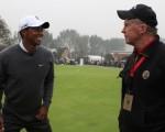 Tiger Woods and Bernie during 2012 Duel at Lake Jinsha in China.