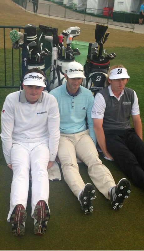 Keegan Bradley, Dustin Johnson and Brandt Snedeker