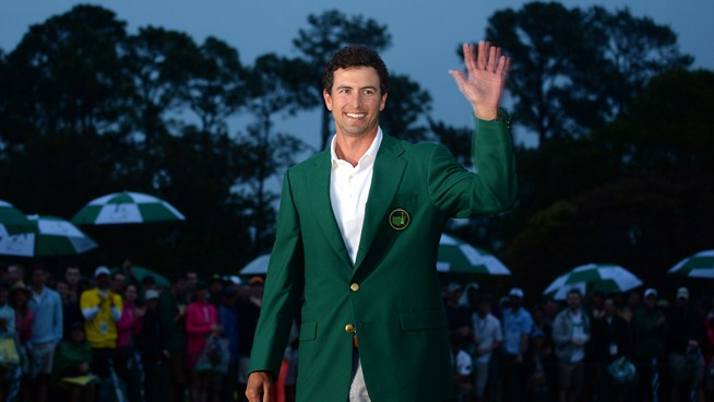Adam Scott in his Augusta green jacket