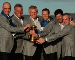 Colin Montgomerie alongside Sergio Garcia at the 2010 Ryder Cup. (Photo - www.golffile.ie)
