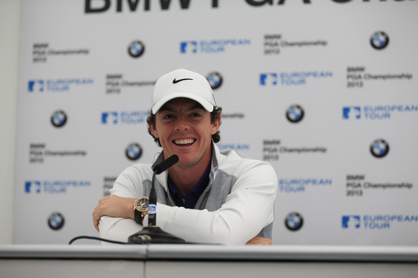 Rory McIlroy in good spirits on the eve of the BMW PGA Championship.  (Photo - Fran Caffrey/www.golffile.ie)