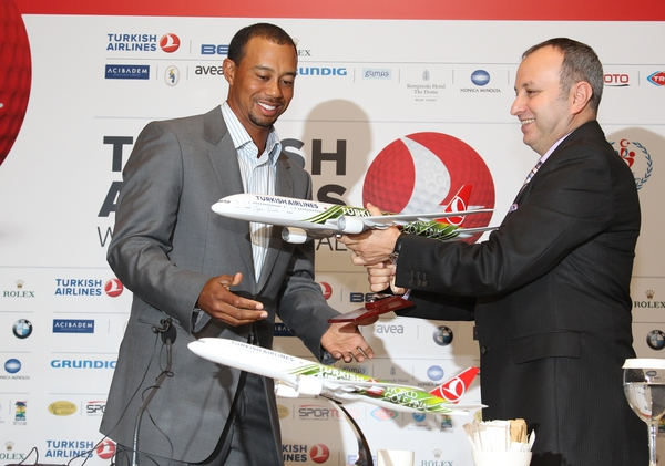Tiger Woods during last year's appearance in the Turkish Airlines World Golf Championship.  (Photo - www.golfbytourmiss.com)