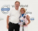 Tour Miss with Volvo Event President, Per Ericsson at the Pro-Am presentation.