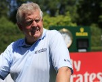 Colin Montgomerie with one of his 'infamous' stares on the first hole during Wednesday's BMW International Pro-Am.  (Photo - Eoin Clarke/www.golffile.ie)