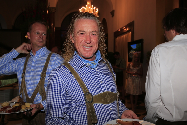Miguel Angel Jimenez has a 'glow' about him at the Players Party.