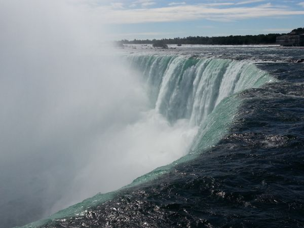 The Canadian Falls with some 600,000 pouring over the edge every second.