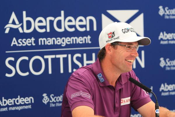 Padraig Harrington delighting the media during the recent Scottish Open.  (Photo - Stuart Adams/www.golftourimeges.com)