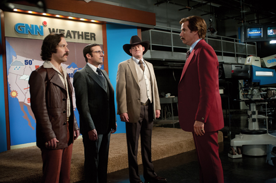 Will Ferrell and the cast of Anchorman 2.