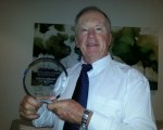 Bernie with his AGWA award for 'Best |Internet' story award.