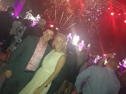 Caroline and Rory Dubai Air Show March 2013.  (Photo - Caroline Wozniacki)