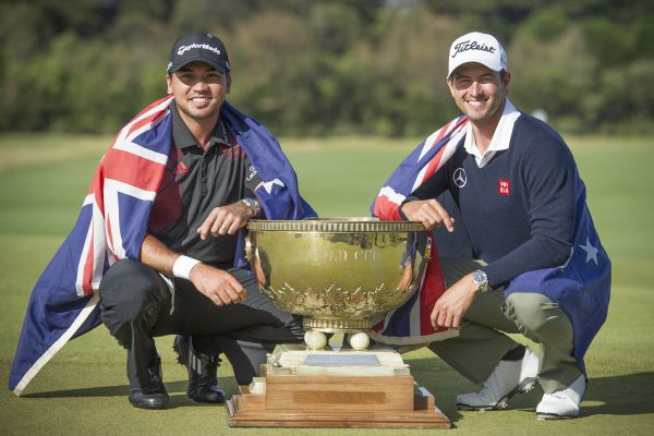 Jason Day and Adam Scott, winners of the 2013 World Cup at Royal Melbourne Golf Club (Photo: Anthony Powter)