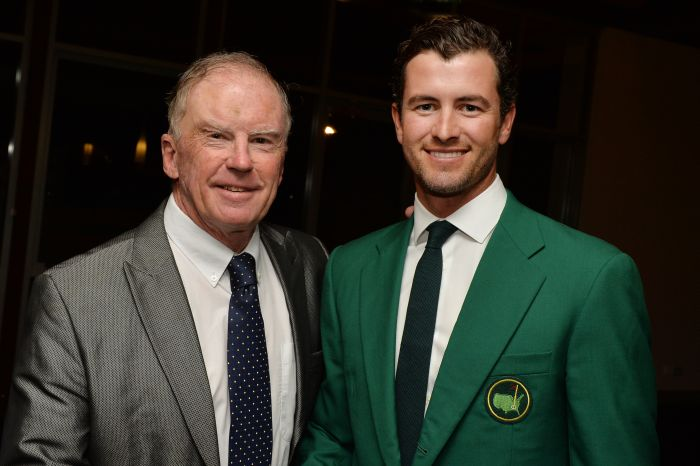 Bernie with Australia's first-ever Masters champion.