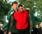 Tiger Woods wins a first Masters in 1997.