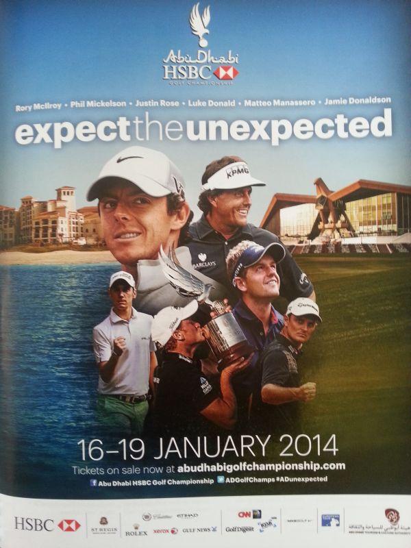 Abu Dhabi HSBC Championship poster.