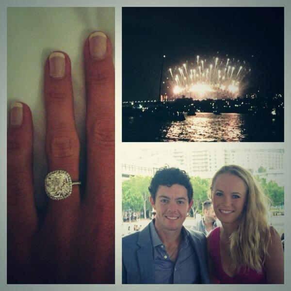 Rory McIlroy gets engaged to Caroline Wozniacki.  (Photo - Rory McIlroy)