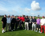 Rlcardo Santos has a new 16 person Scotland fan base after meeting members of the visiting Crail Golfing Society.