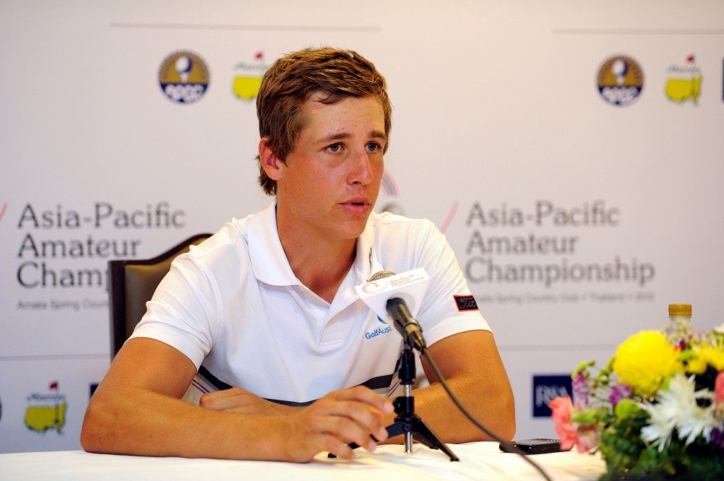 Aussie Oliver Goss at the 2014 Asian Amateur.  (Photo - www.randa.org)