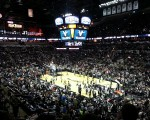 Players warm-up ahead of the Spurs -v- Pelicans game.