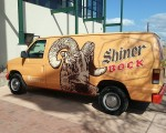 A van full of Shiner bock.