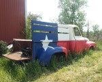Ford circa 1950s F-100 in Texas Lone State colours